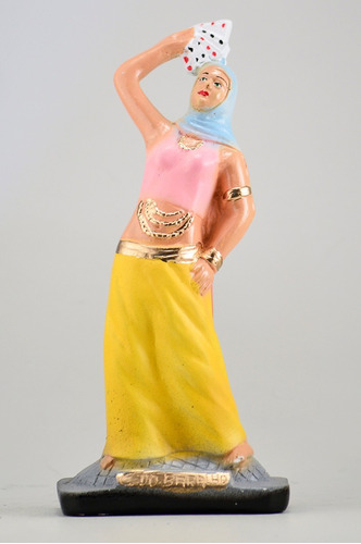 imagem cigana do baralho escultura em gesso estatua ciganos