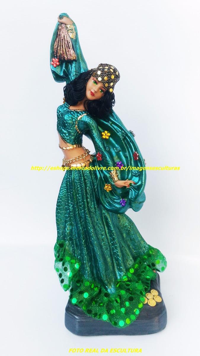 Aparador Acrilico Sp ~ Imagem Cigana Esmeralda Rainha Estatua 35cm Cabelo Boneca R$ 117,99 em Mercado Livre