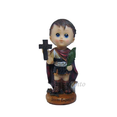 imagem de santo expedito - criança  14cm