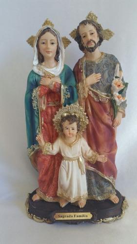 imagem em resina sagrada familia 20 cm
