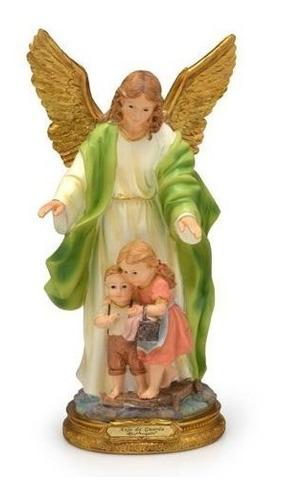 imagem escultura anjo da guarda 30cm