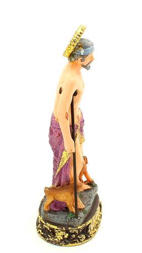 imagem escultura de são lázaro - 13cm