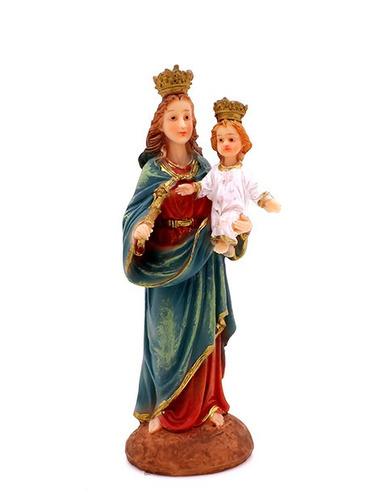 imagem escultura nossa senhora auxiliadora - 12cm