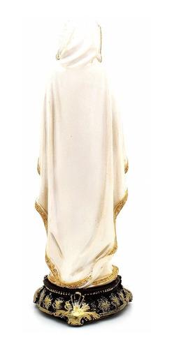 imagem escultura nossa senhora de lourdes 20cm