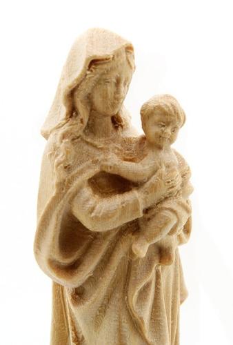 imagem escultura nossa senhora do d. amor - madeira - 7,5cm