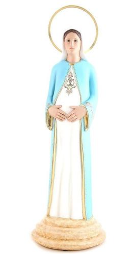 imagem escultura nossa senhora grávida 60cm