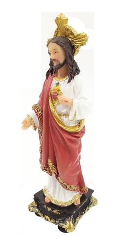 imagem escultura sagrado coração de jesus 13cm
