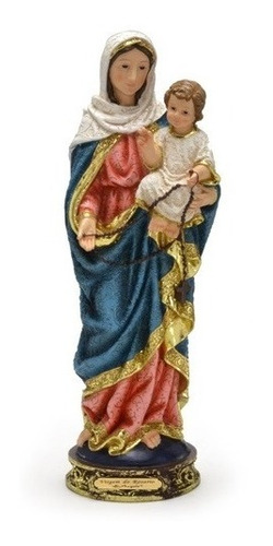 imagem escultura virgem do rosário - 13cm