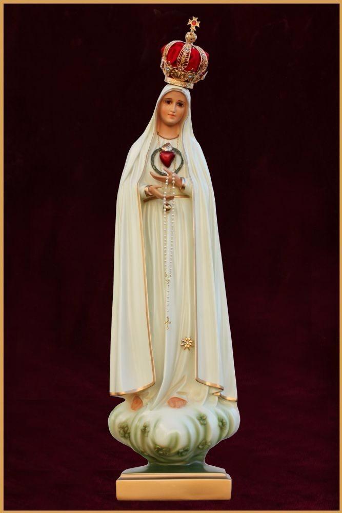ea17f01e5 Imagem Imaculado Coração De Nossa Senhora De Fatima 75cm - R  1.650 ...