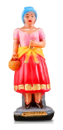 imagem maria baiana escultura gesso estatua baiana maria 40c