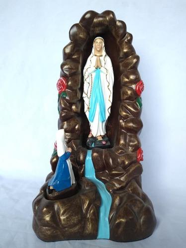 imagem nossa senhora de lourdes santa bernadete 34cm gruta