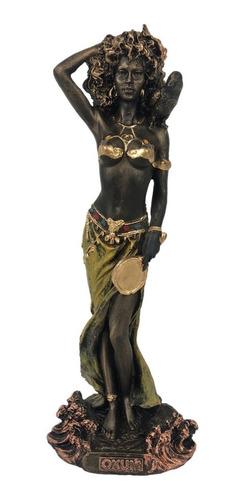 imagem orixá oxum estátua santo enfeite umbanda resina