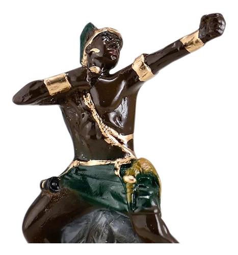 imagem oxossi escultura orixa candomble africano oxosse 25cm