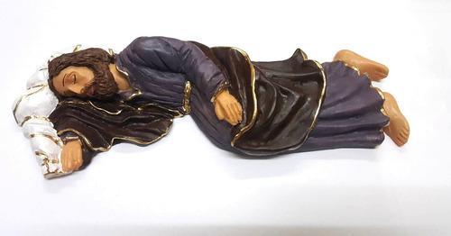 imagem resina são josé dormindo quarto papa 40cm encomenda