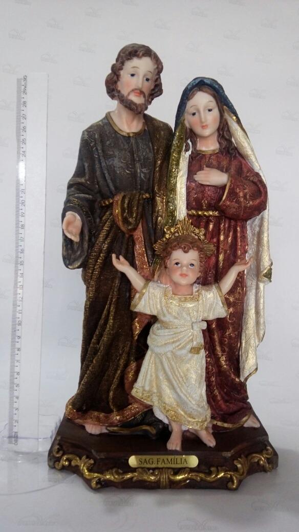 49fc6fecf11 imagem sagrada familia 30cm em resina. Carregando zoom.