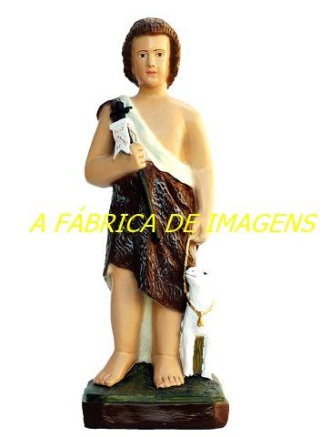 imagem sao joao batista menino estatua 60cm gesso fabrica br