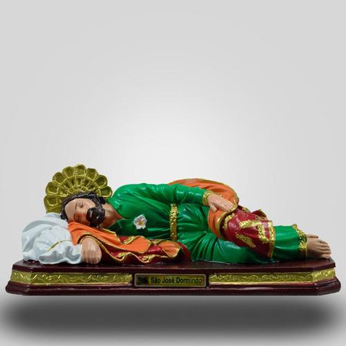 imagem  são josé dormindo inquebrável e ecológica 28 cm