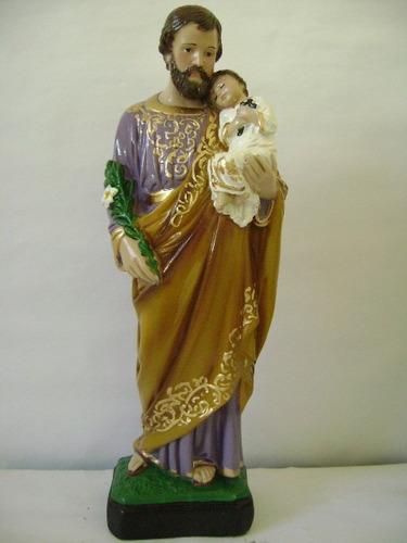 imagem são josé escultura em gesso estatua santo com 40 cm
