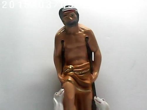 imagem são lazaro escultura do santo estatua em gesso c/30cm