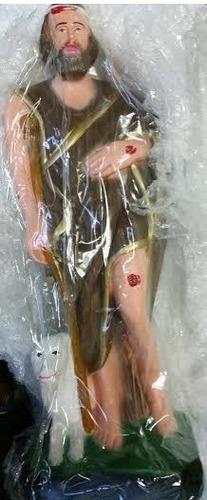 imagem são lazaro escultura do santo estatua gesso com 40cm