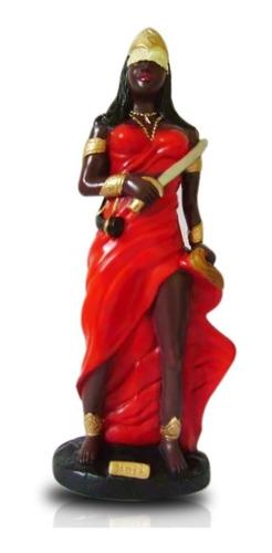 imagem yansa escultura orixa do candomble africano 45 cm