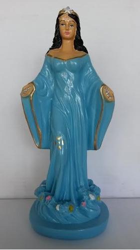 imagem yemanjá escultura 100% em gesso estatua iemanjá 26cm