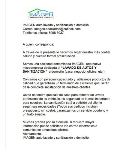 imagen: autolavado y sanitización a domicilio.