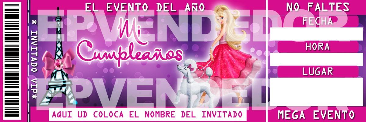 Imagen De Invitacion Barbie Invitaciones Epvendedor