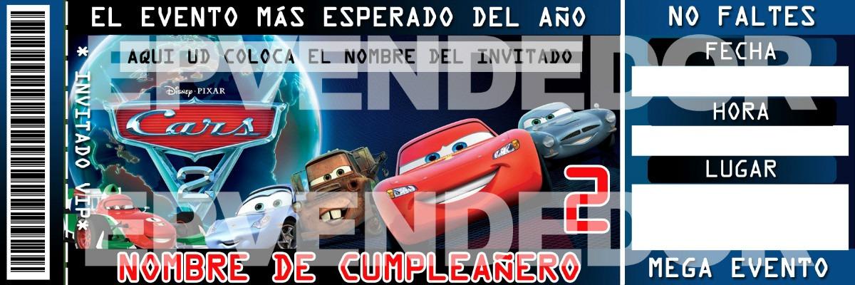 Imagen De Invitacion Cars Invitaciones Epvendedor