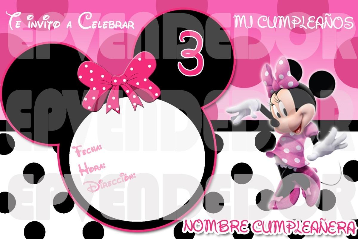 Imagen De Invitacion Minnie Mouse Puntos- Invitaciones Epv - Bs ...