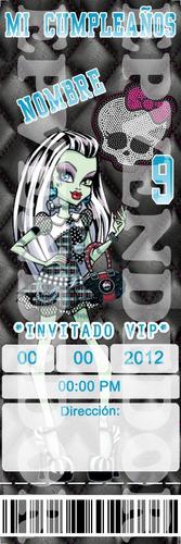 imagen de invitacion monster high - invitaciones epv