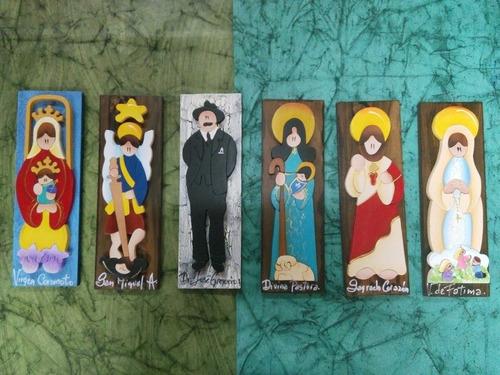 imagen de virgenes santos y religiosas en mdf