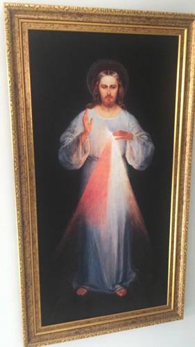 imagen divina misericordia en lienzo (45x22,5 cms) sin marco
