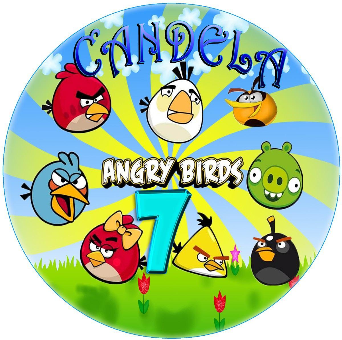 Imágenes Angry Birds Imprimible Etiquetas Plantillas - $ 39,19 en ...