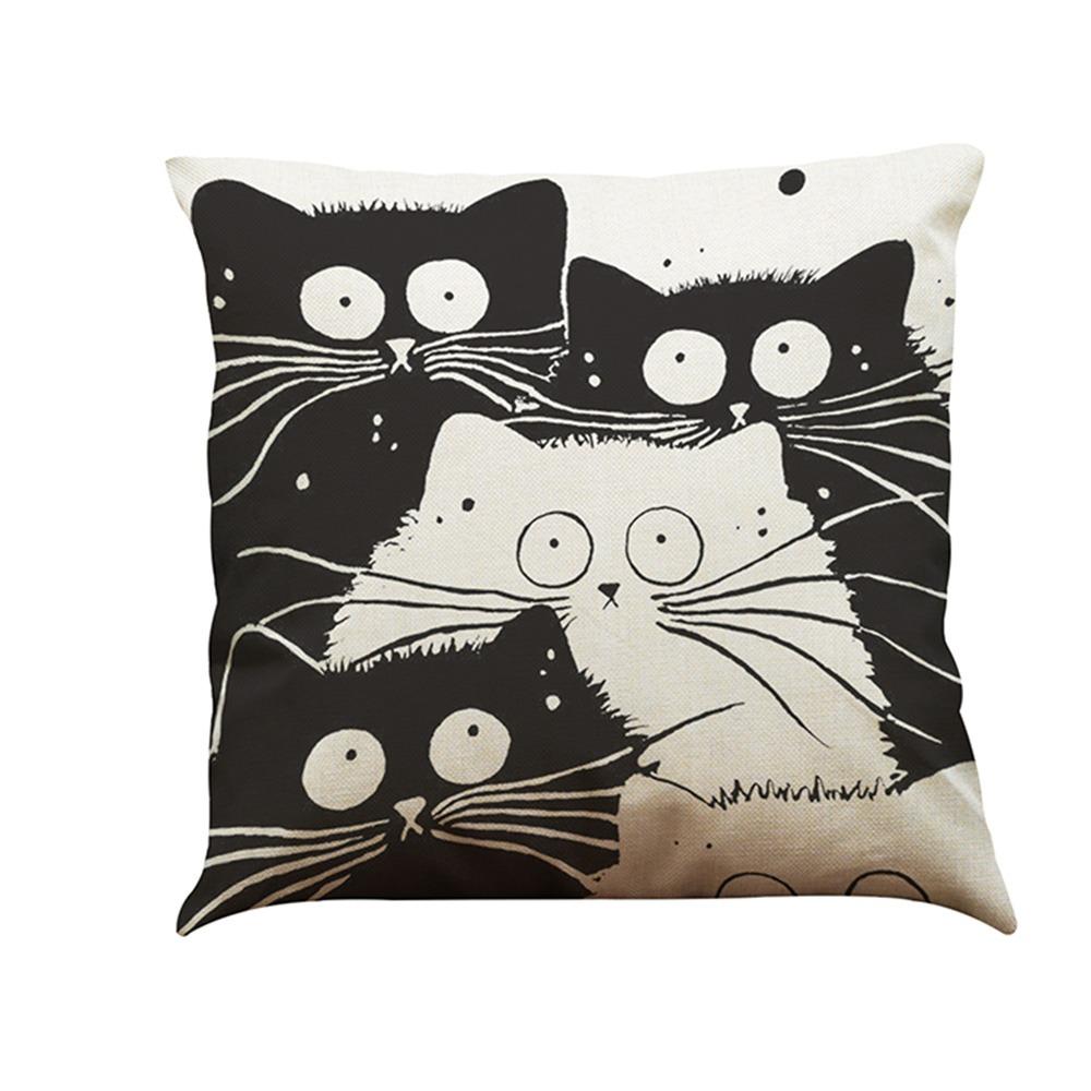 Imágenes Dibujos Animados Gato Blanco Y Negro Moda Simple Y