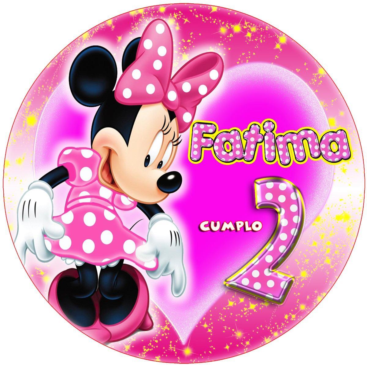 Imágenes Minnie Rosa Kit Imprimible Etiquetas Plantillas - $ 39,19 ...