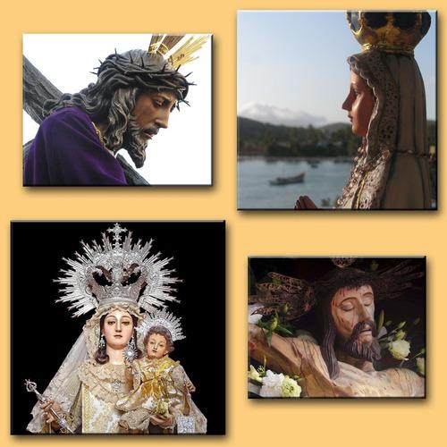 imágenes religiosas en fotos montadas sobre mdf santo virgen