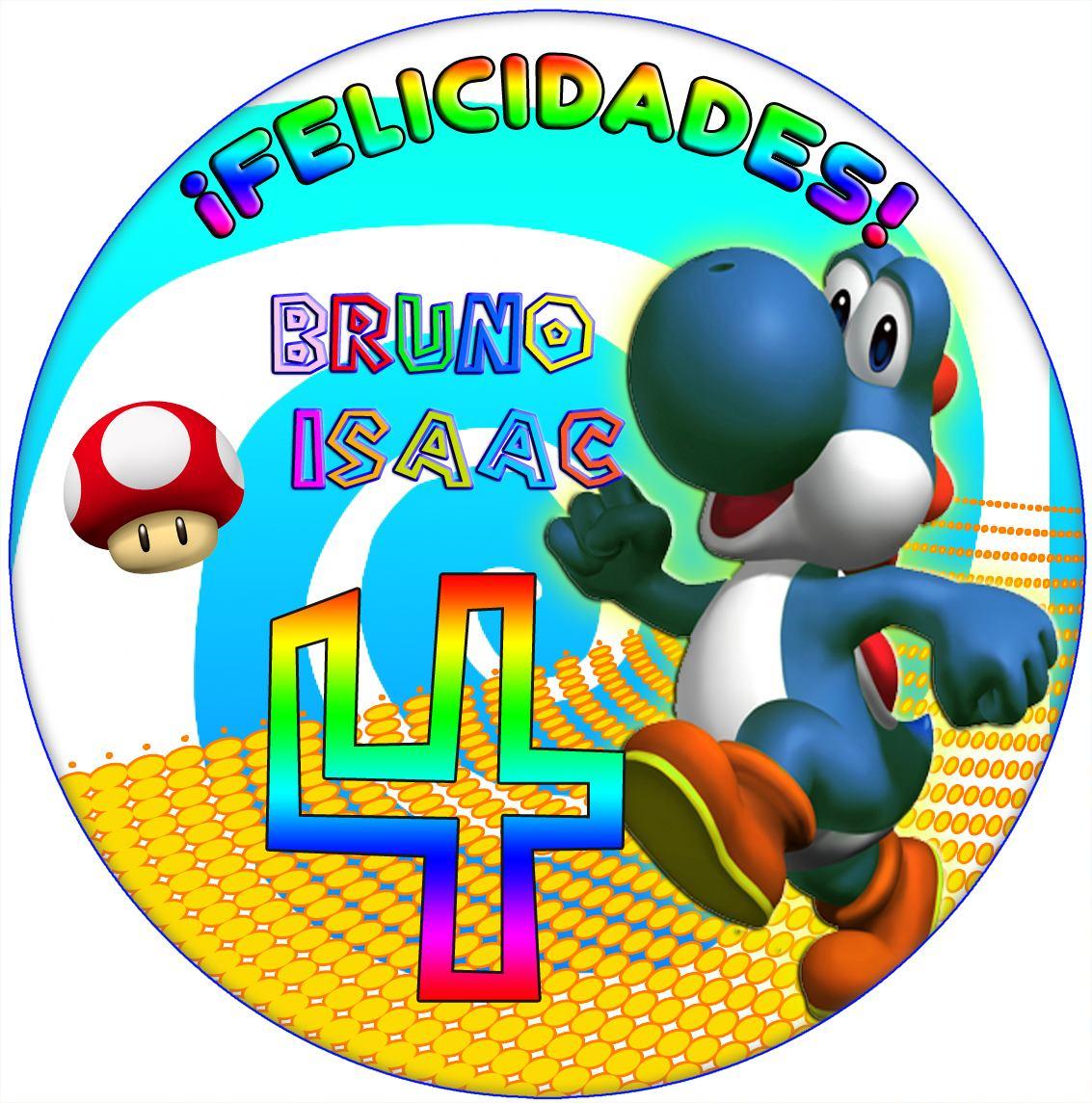Imagenes Yoshi Mario Bross Etiquetas Plantillas Cumple 39 19 En