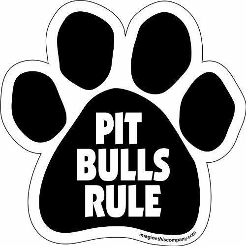 imagina este imán de paw car, regla de pit bulls, 5-1 / 2-pu