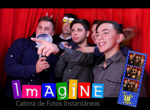 imagine cabina de fotos instantáneas