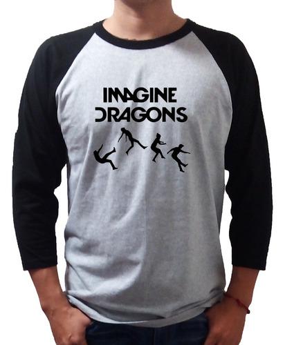 imagine dragons playera rock raglan -envio gratis