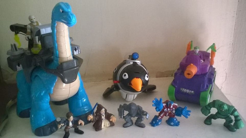 imaginext, super hero squad y galactic hero lote.
