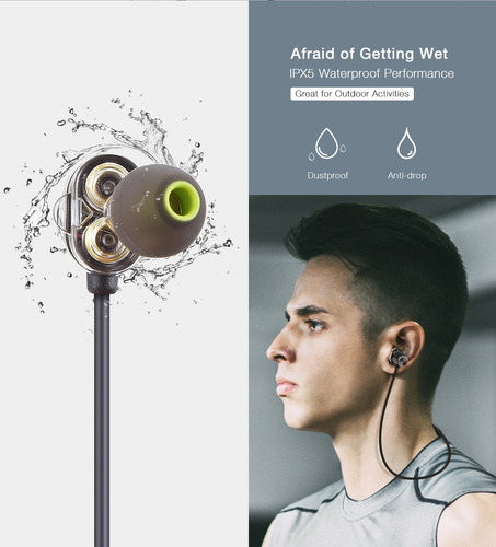 imán atracción bluetooth4.1 auriculares deportivos ipx5 impe
