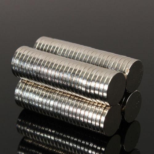 imán de neodimio circular de 10 x 1.5 mm (12000 gaus - n52)