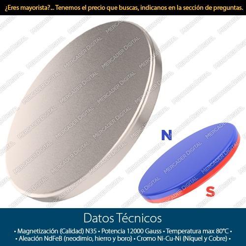 imán de neodimio de 10mm x 1mm cilindro disco broche