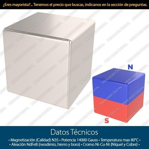 imán de neodimio de 5mm x 5mm x 5mm cubo cuadrado