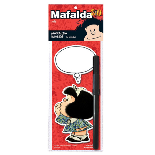 imán mafalda piensa con marcador - barrancas de belgrano