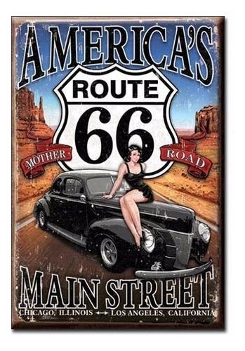 iman magnet metálico vintage retro beer americas route 66