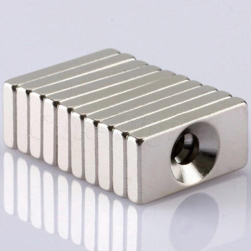 iman neodimio n35 10 unidades  imanes potentes  20x10x3 mm