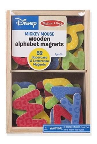 imanes de madera con letras del alfabeto melissa y doug, jug